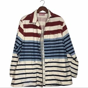 Globe Men's Striped Color Block Cotton Jacket